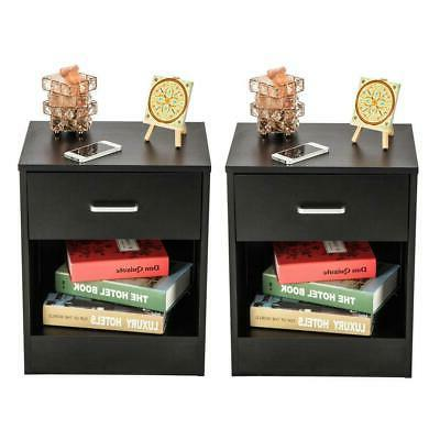 Set 2 Stand End Table Bedroom Nightstand