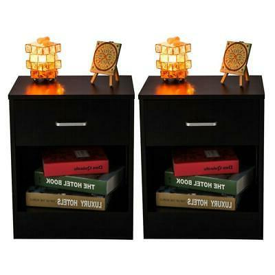 Set 2 Stand End Nightstand