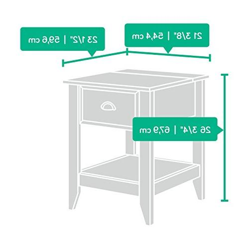 """SmartCenter Side Table, L x 23.47"""" x 26.73"""" H, Wood"""
