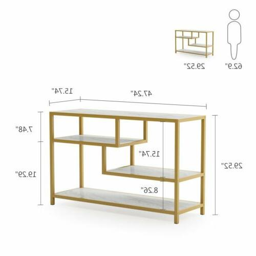 Tribesigns Sofa Entry 3-Tier Gold with Veneer