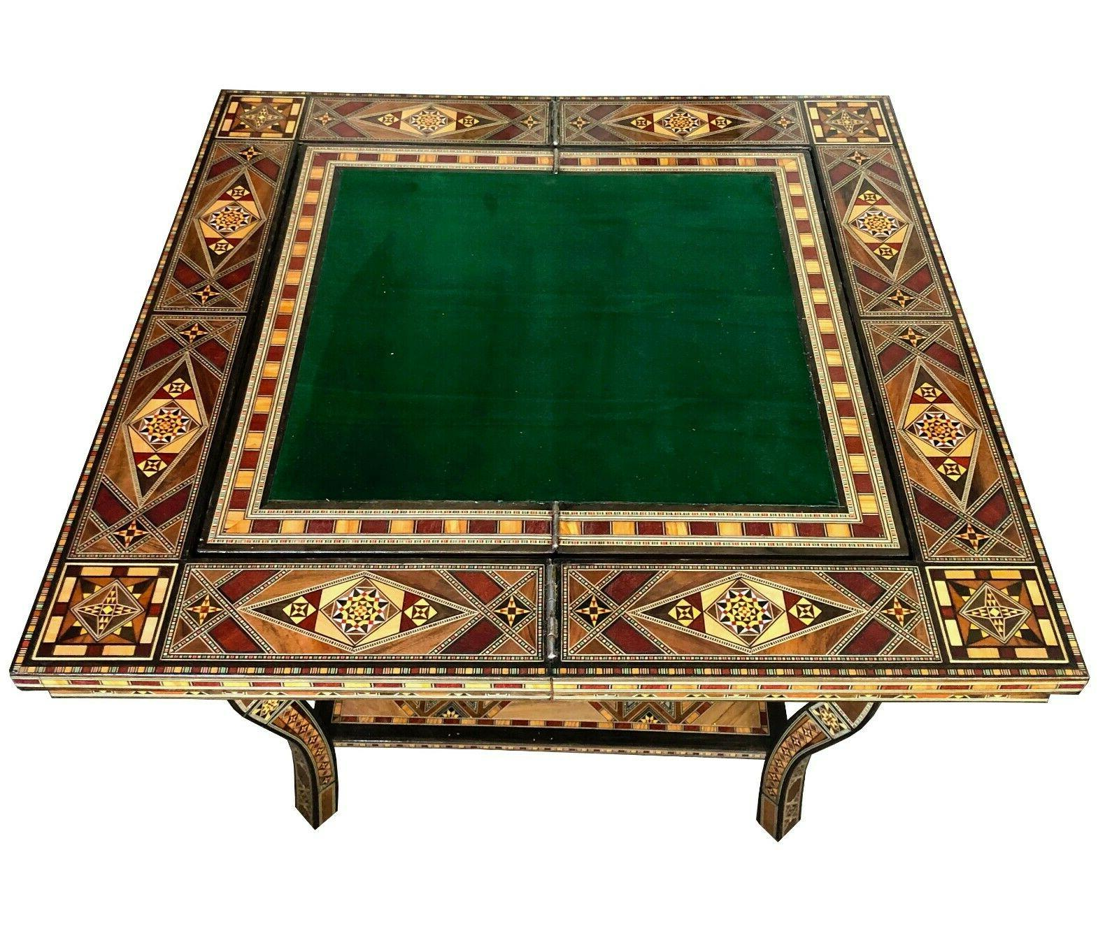Syrian Mosaic inlay game table