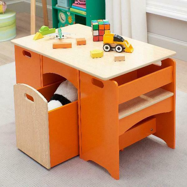Table and Set for 4 PCS Childrens Activity