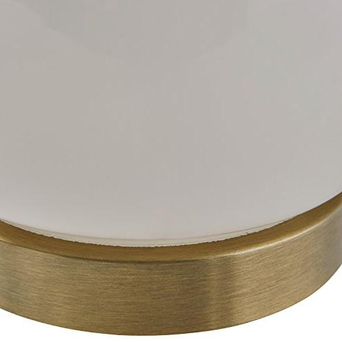 "Rivet Transitional With Brass Trim, 11.5"" Glass"