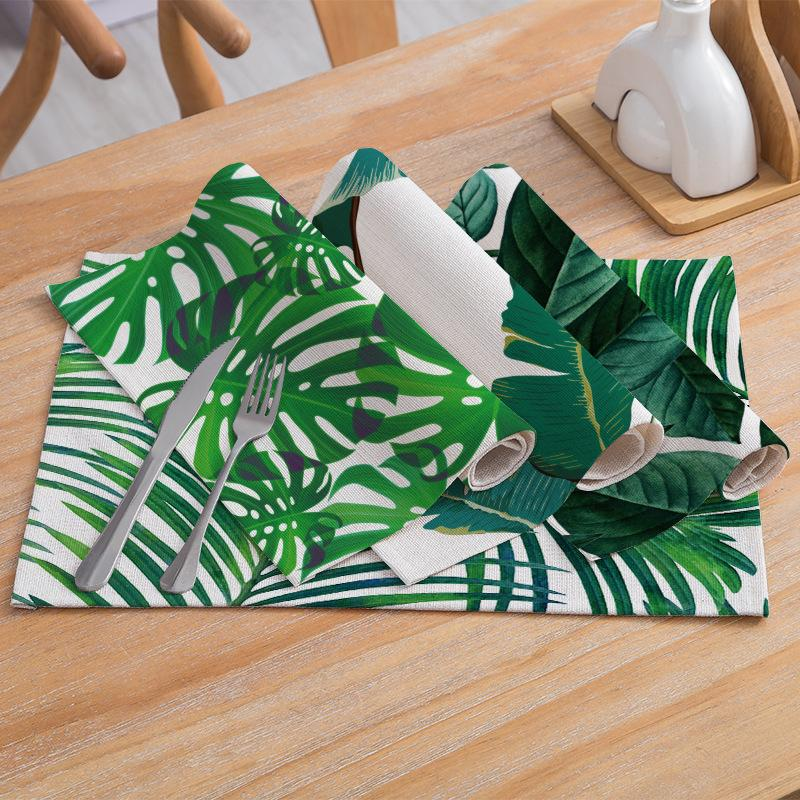 Elife <font><b>Table</b></font> Napkins Pattern Linen Coffee Tablecloth