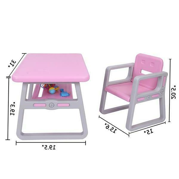 Toddlers Table and Chairs Set for Lego
