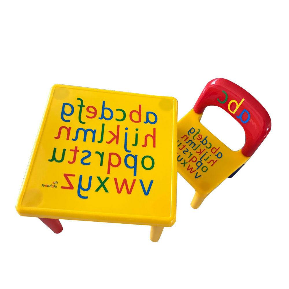 US Home Letter Table Chair For Education Activity