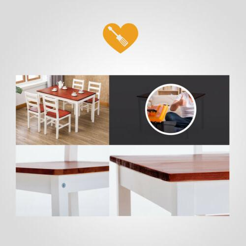 5 Piece Dining Set 4 Chairs Room Furniture