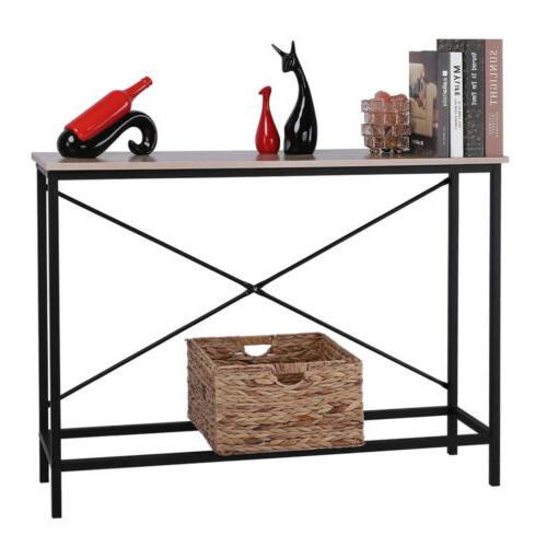 Wood Table Sofa Accent Stand Entryway