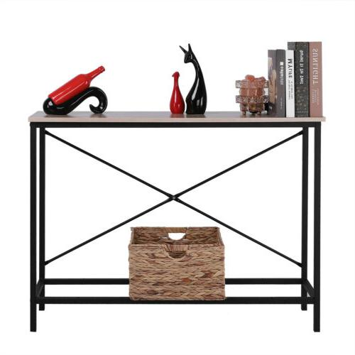 Wood Console Modern Sofa Accent with Stand