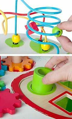 Wooden Activity with Bead Maze Beads Wire Preschool Toddlers