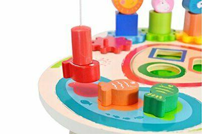 Wooden Activity Bead Maze Cube Beads Wire Toddlers