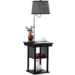 LED Floor Lamp End Table Modern Electric Swing Arm Living Ro