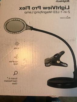 Brightech LightView Flex LED Magnifier Lamp with Stand and C