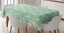 Llama Tablecloth Ambesonne 3 Sizes Rectangular Table Cover H