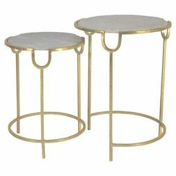 Sagebrook Home Marble Nesting Accent Tables - Set of 2