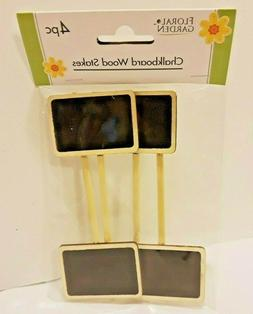 Mini 4 Pack Wood Chalkboard Stakes for Wedding & Party Table