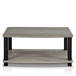 Modern Grey Coffee Table Small Wood End Storage Stand Living