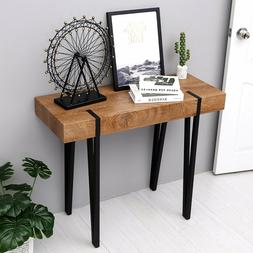 Modern Industrial Farmhouse Console Table Wood Table for Ent