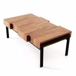 Modern Industrial Simple Design Wood Coffee Table for Living