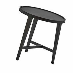 "Rivet Modern Round Wood Nesting Table, 20.5"" W, Dark Oak 20"""