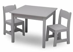 Delta Children MySize Kids Wood Chair Set and Table , Grey