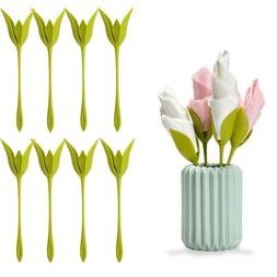 Plastic Twist Napkin Holders Flowers Floral Green For Party