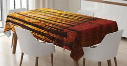 Nature Theme Tablecloth Ambesonne 3 Sizes Rectangular Table