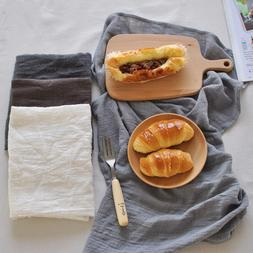 Newest 45*65cm Solid Simple Japanese Style Mat Napkin Cotton