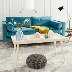 Safavieh Nonie White Coffee Table with Tray Top