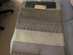 "NWT~~EMBROIDERED SILVER w/ gOLD 13""X 70"" TABLE RUNNER~~ LINE"