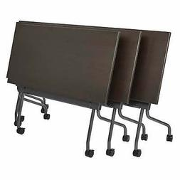 Office Star Flip-Top Training Table 48 x 24 with Titanium