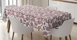 Paisley Tablecloth Ambesonne 3 Sizes Rectangular Table Cover