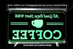 Personalized Coffee Cup LED Sign - Gift for Mom - Restaurant