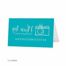 Andaz Press Personalized Hashtag Table Tent Place Cards, Dou