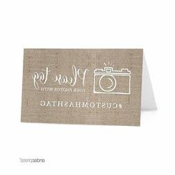 personalized hashtag table tent place cards double