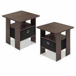 Furinno Petite End Table - Set of 2