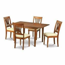 Picasso 5 PC kitchen table set Table with Leaf and 4