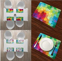 Placemat Heat Resistant For Dining Table Set Of 4 Washable P