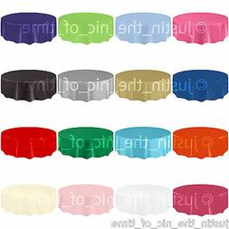 AMSCAN Plastic ROUND TABLECOVERS Table Cloth Cover Catering