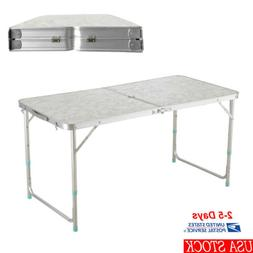Portable 4' Folding Table Indoor Outdoor For Picnic Party Di