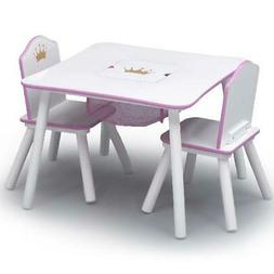 Delta Children Princess Crown Kids Table and Chair Set with