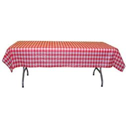 "Red Gingham Checkerboard plastic table cover - 54"" x 108"""