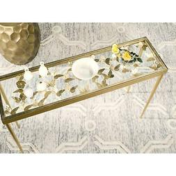 Safavieh Rosalie Antique Gold Leaf Butterfly Console Table G
