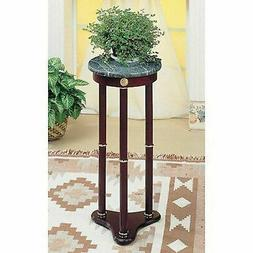 Round Pedestal Plant Vase Stand Small Cherry Accent Table Ma
