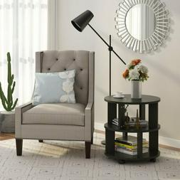 Round Side End Table Living Room Lamp Table 3 Tier Small Tab