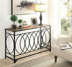 Rustic Console Table Furniture Vintage Accent Brown Entryway