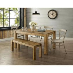 Rustic Dining Room Table Set Farmhouse Kitchen Tables And Ch