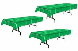 """Beistle S57942AZ3 3Piece Game Day Football Tablecovers, 54"""""""