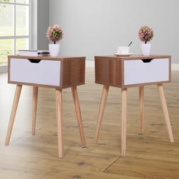 Set of 2 Side End Table Nightstand Bedroom Living Room Table