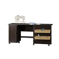 Sewing Craft Cart in Cinnamon Cherry Finish